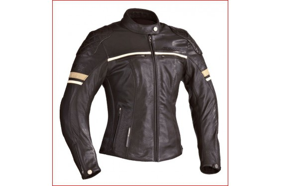 blouson cuir moto ixon motors lady marron street moto piece. Black Bedroom Furniture Sets. Home Design Ideas