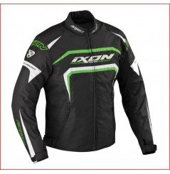 Blouson Racing Ixon Eager Noir - Blanc - Vert