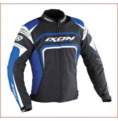 Blouson Racing Ixon Eager Noir - Blanc - Bleu