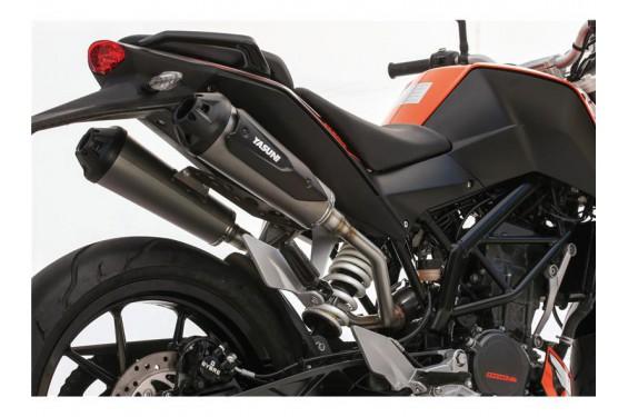 chappement moto yasuni sportbike double sortie pour ktm duke 125 street moto piece. Black Bedroom Furniture Sets. Home Design Ideas