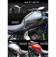 Protection de réservoir D'Zign Pad Carbon pour Yamaha MT 07