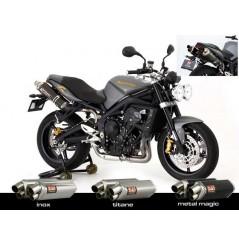 Silencieux moto Yoshimura Tri-Oval 2 pour Street Triple 675 et R (08-12)