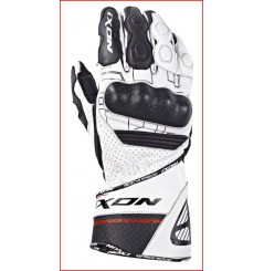 Gants Racing Moto Ixon Rs Rallye Hp Noir - Blanc - Rouge