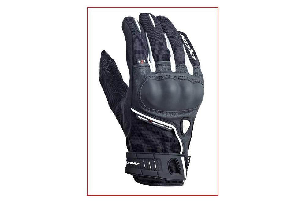 gants moto roadster ixon rs grip hp noir blanc street moto piece. Black Bedroom Furniture Sets. Home Design Ideas