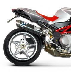 Silencieux moto Termignoni Ovale pour MV Agusta Brutale (06-08)