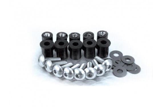 Kit Visserie pour le montage de bulle moto 5mm Alu