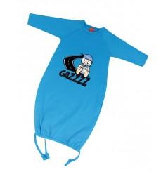 Grenouillère bébé GAZZ 0-6 Mois bleue