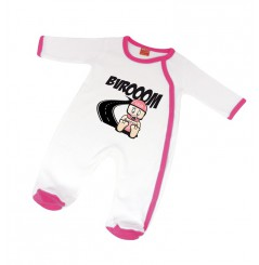 Pijama bébé VROOM 6 - 12 mois Blanc Rose