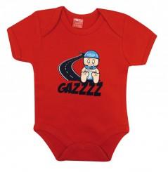 Grenouillère Bébé GAZZ 0 - 6 mois Rouge