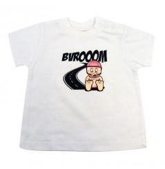 T-Shirt Bébé VROOM 0 - 6 Mois Blanc