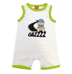 Combi Short Bébé GAZZ 0 - 6 mois blanc verte