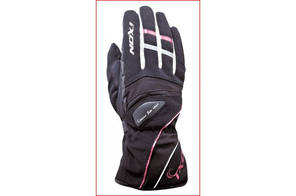 gants femme hiver moto pro donna hp noir blanc rose. Black Bedroom Furniture Sets. Home Design Ideas