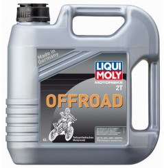Huile Moto Cross LIQUI MOLY 2 Temps Motorbike Off Road Semi-Synthèse 4 Litre