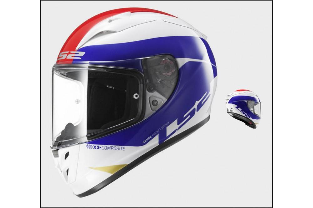 Casque Moto Ls2 Ff323 Arrow R Comet Bleu Blanc Rouge Street
