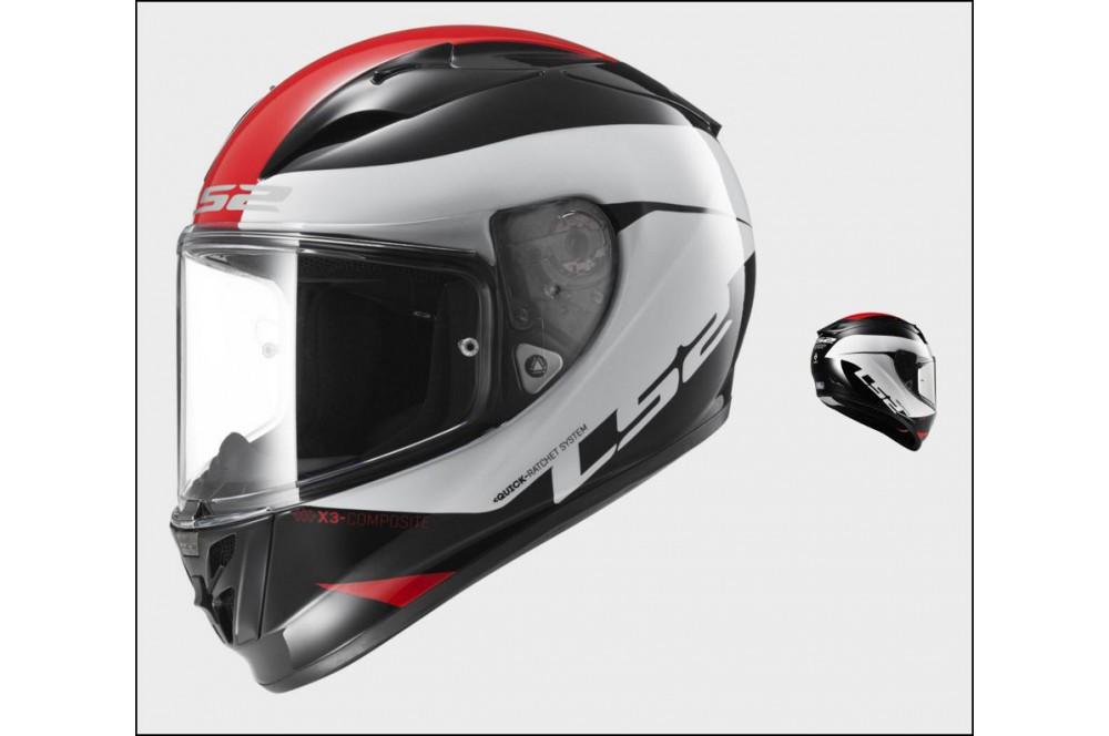 casque moto ls2 ff323 arrow r comet noir blanc rouge street moto piece. Black Bedroom Furniture Sets. Home Design Ideas