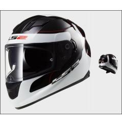 Casque Moto LS2 FF320 STREAM LUNAR Noir - Blanc