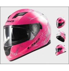 Casque Moto LS2 FF320 STREAM WIND Rose - Blanc