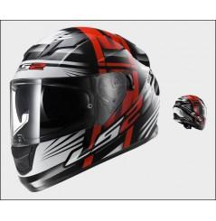Casque Moto LS2 FF320 STREAM BANG Noir - Blanc - Rouge