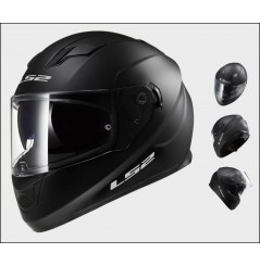 Casque Moto LS2 FF320 STREAM SOLID Noir Mat