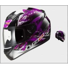 Casque Moto LS2 FF352 ROOKIE FLUTTER Noir - Rose