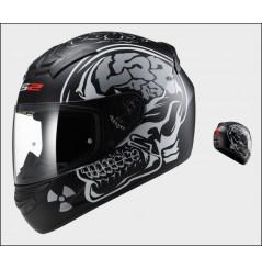Casque Moto LS2 FF352 ROOKIE X RAY Noir Mat
