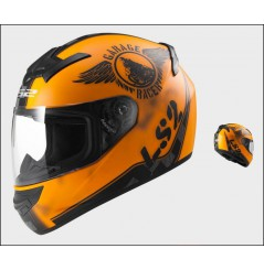 Casque Moto LS2 FF352 ROOKIE FAN Orange