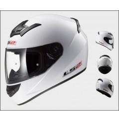 Casque Moto LS2 FF352 ROOKIE SOLID Blanc