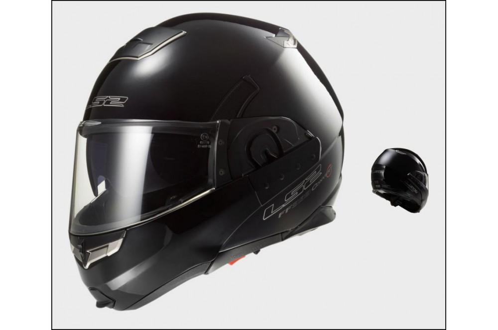 casque moto modulable ls2 ff393 convert solid noir street moto piece. Black Bedroom Furniture Sets. Home Design Ideas