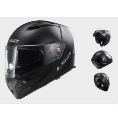 Casque Moto Modulable LS2 FF324 METRO SOLID Noir Mat