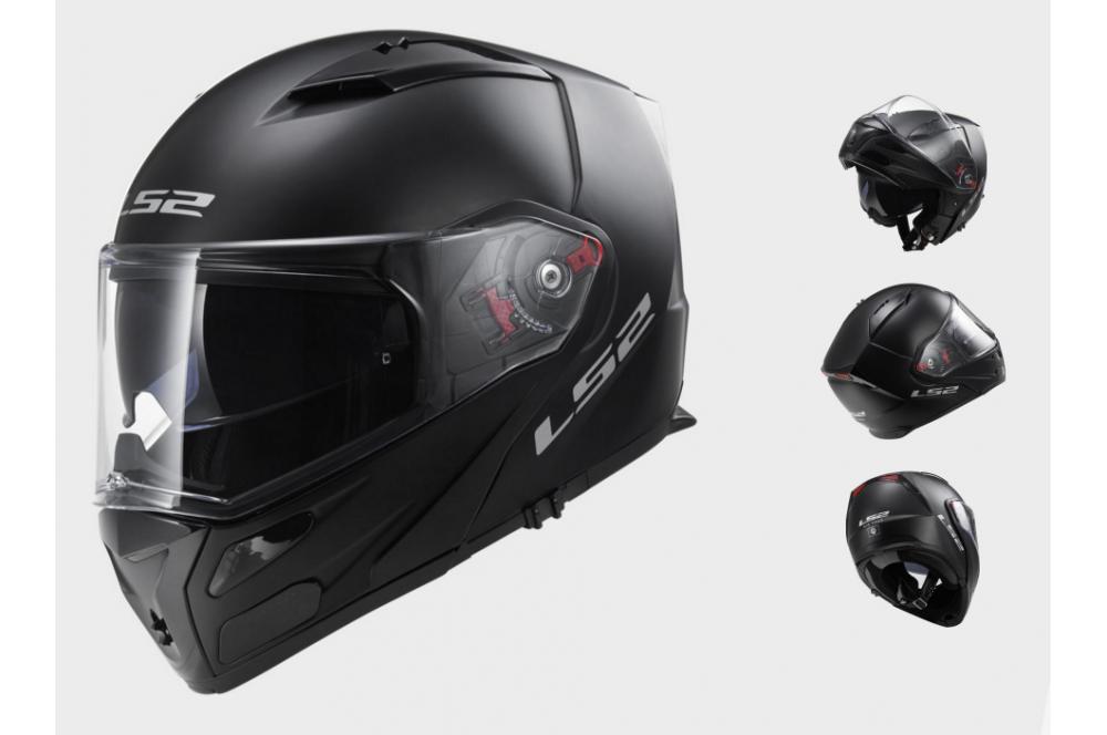 casque moto modulable ls2 ff324 metro solid noir mat street moto piece. Black Bedroom Furniture Sets. Home Design Ideas
