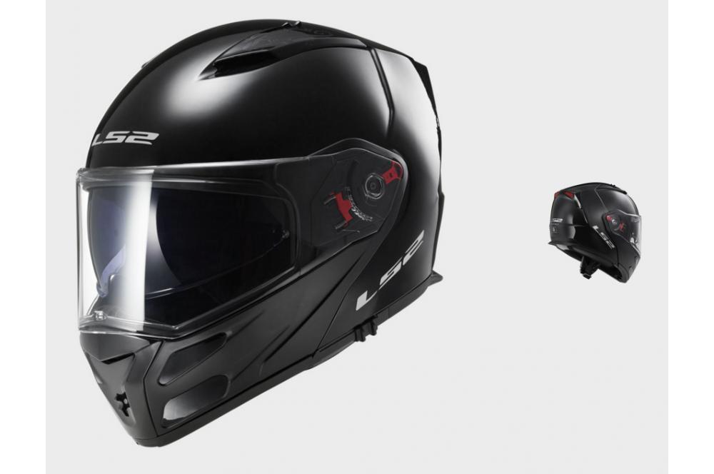 casque moto modulable ls2 ff324 metro solid noir street moto piece. Black Bedroom Furniture Sets. Home Design Ideas