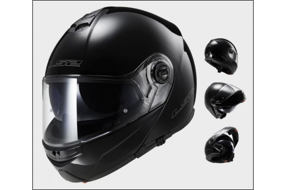 Casque Moto Modulable LS2 STROBE Noir