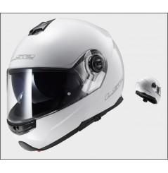 Casque Moto Modulable LS2 STROBE Blanc
