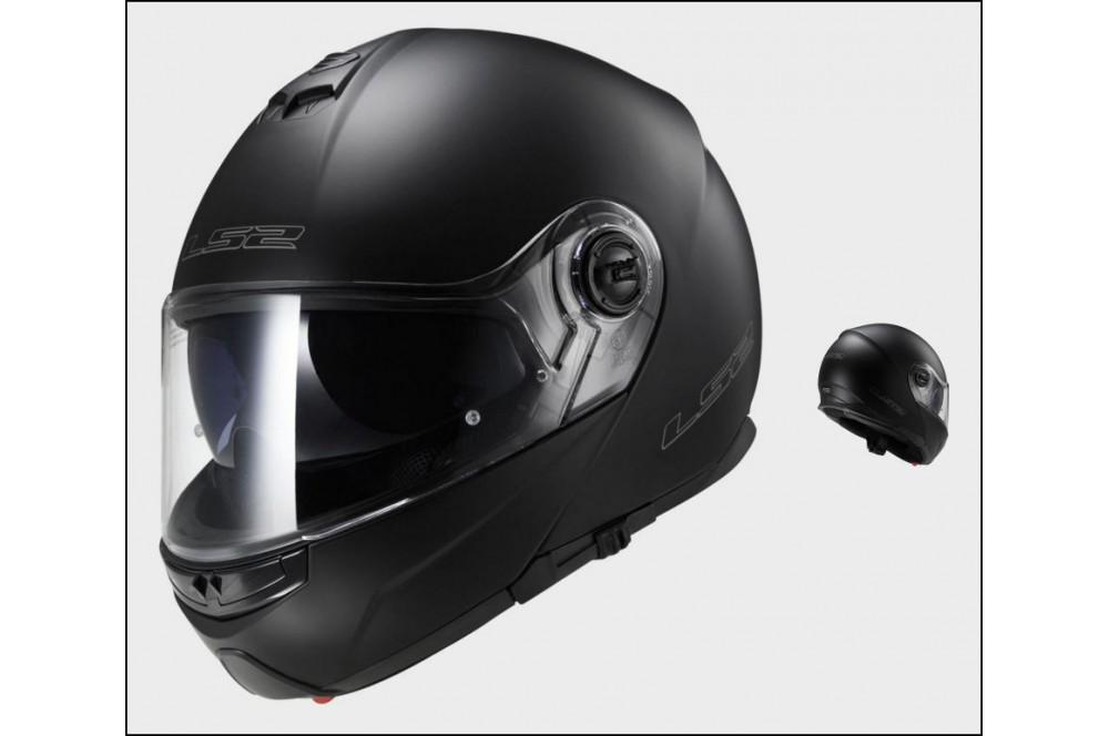 casque moto modulable ls2 ff325 strobe solid noir mat street moto piece. Black Bedroom Furniture Sets. Home Design Ideas