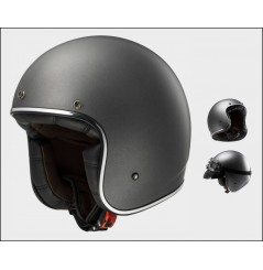 Casque Jet Moto LS2 OF583 BOBBER SOLID Gris