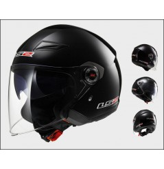 Casque Jet Moto LS2 OF569 TRACK SOLID Noir