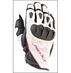 Gants Roadster Moto Ixon Rs Tatoo Vx Hp Noir - Blanc - Rose