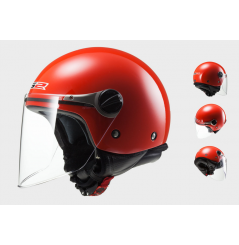 Casque Jet Moto LS2 OF575J WUBY SOLID Rouge