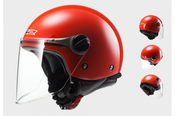Casque Jet Moto Junior Ls2 Wuby Solid Rouge Street Moto Piece