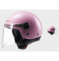 Casque Jet Moto Junior LS2 WUBY SOLID Rose