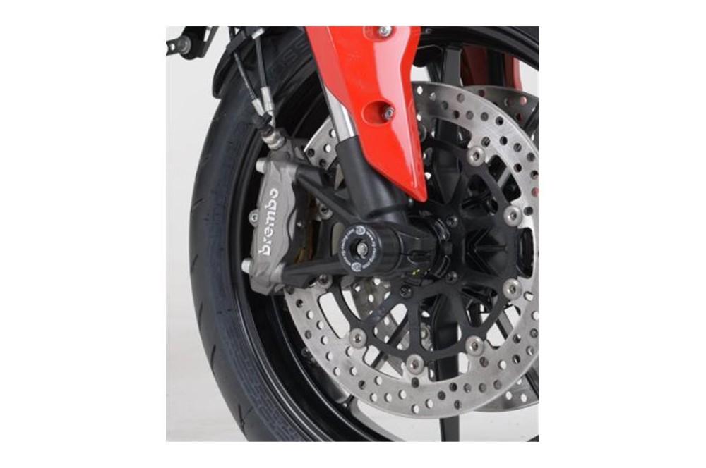 roulettes de protection de fourche r g pour ducati hypermotard 821 13 16 street moto piece. Black Bedroom Furniture Sets. Home Design Ideas