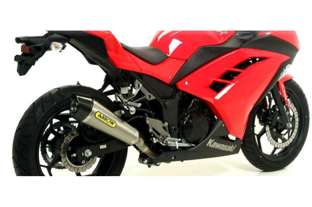 silencieux arrow x kone pour ninja 300 13 16 street moto piece. Black Bedroom Furniture Sets. Home Design Ideas