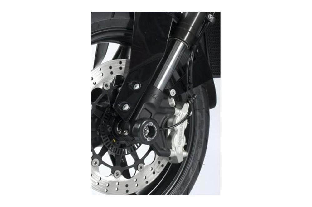 roulettes de protection de fourche r g pour ktm 690 duke et r 12 16 street moto piece. Black Bedroom Furniture Sets. Home Design Ideas