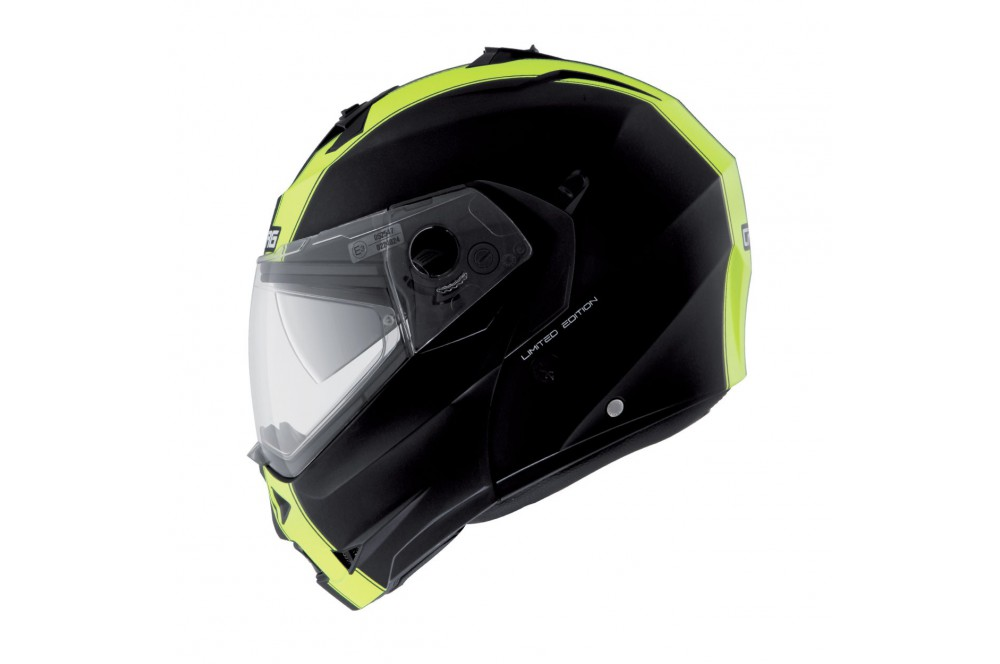casque moto modulable caberg duke legend noir jaune street moto piece. Black Bedroom Furniture Sets. Home Design Ideas