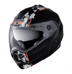 Casque Moto Modulable CABERG DUKE COMMANDER Noir - Blanc - Orange