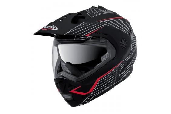 Casque Moto Modulable CABERG TOURMAX SONIC Noir - Blanc - Rouge