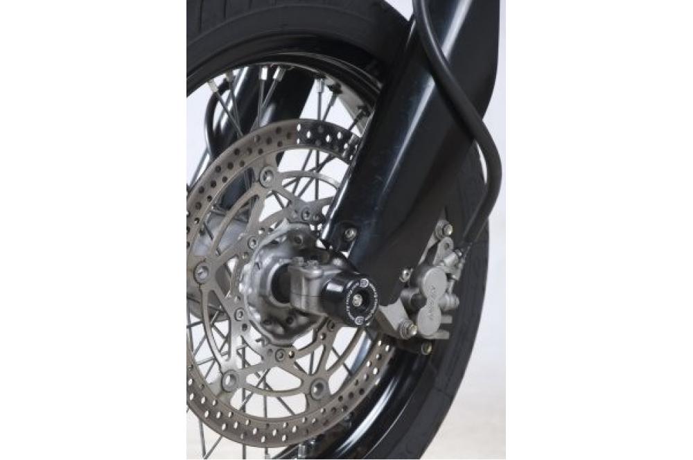 roulettes de protection de fourche r g pour suzuki drz400sm 05 10 street moto piece. Black Bedroom Furniture Sets. Home Design Ideas
