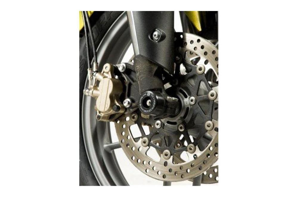 roulettes de protection de fourche r g pour triumph tiger 800 11 16 street moto piece. Black Bedroom Furniture Sets. Home Design Ideas