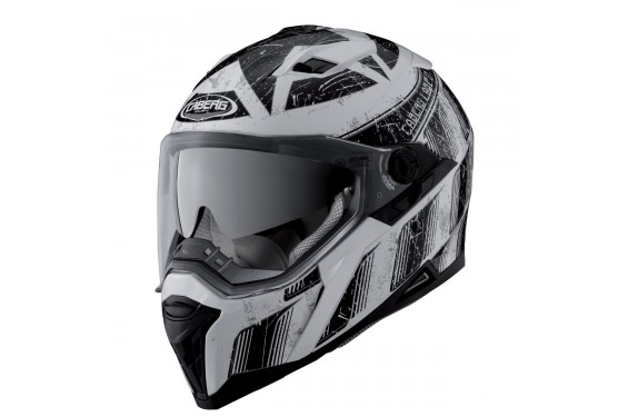 Casque Moto CABERG STUNT STEEZ Noir - Blanc