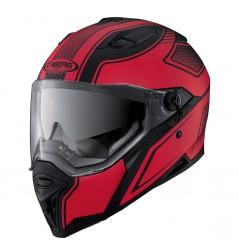Casque Moto CABERG STUNT BLADE Noir - Rouge